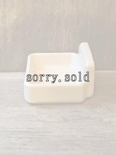 画像2: 洗面 ソープディッシュ ウォールマウント 石鹸台 陶器 ポーセレン ポーセリン アンティーク ビンテージ