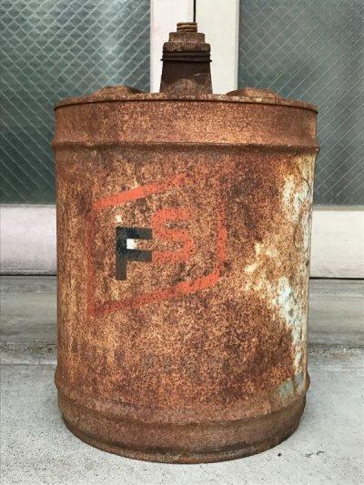 画像2: ガソリン缶 FS オイル缶 シャビーシック 大型 アンティーク ビンテージ