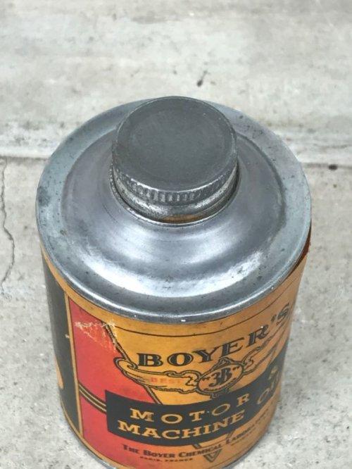 other photographs.3: 1940'S 50'S ティン缶 オイル缶 デッドストック モーターオイル BOYER'S ビンテージ アンティーク