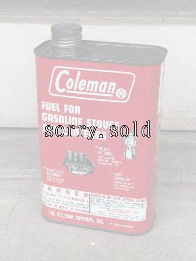 画像1: 1960'S レア ティン缶 ホワイトガソリン fuel コールマン Coleman 200a ビンテージ アンティーク