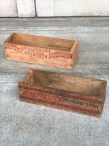 チーズBOX チーズクレート WILSON&CO VELVEETA ウッドボックス 木箱 ストレージ アドバタイジング アンティーク ビンテージ