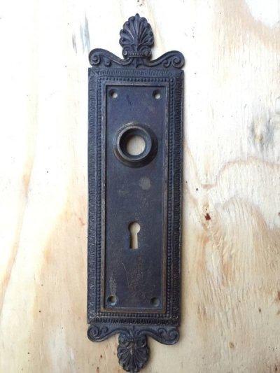 画像1: 1910'S 20'S ドアプレート ビクトリアン バックプレート 真鍮 装飾 アンティーク ビンテージ