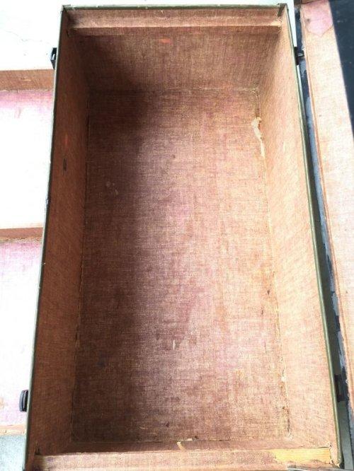 other photographs.3: トランク 中型 デカール ステッカー カレッジ物 スーツケース インナートレイ 店舗什器 アンティーク ビンテージ