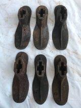 1920'S 30'S シャビーシック 靴型 シューラスト 6個セット アイアン 店舗装飾小物 アンティーク ビンテージ