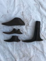 1920'S 30'S シャビーシック 靴型 シューラスト 4個セット アイアン 店舗装飾小物 アンティーク ビンテージ