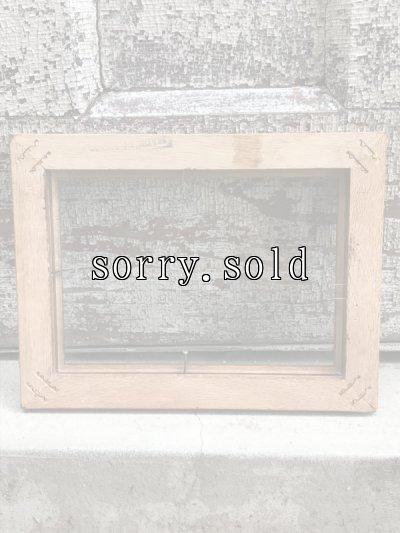 画像2: フレーム ウッド ミニ 木製フレーム ガラス 額縁 アンティーク ビンテージ
