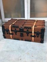 トランク western grip & trunk co. スーツケース レザーストラップ付き 店舗什器 アンティーク ビンテージ