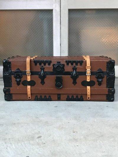 画像2: トランク western grip & trunk co. スーツケース レザーストラップ付き 店舗什器 アンティーク ビンテージ