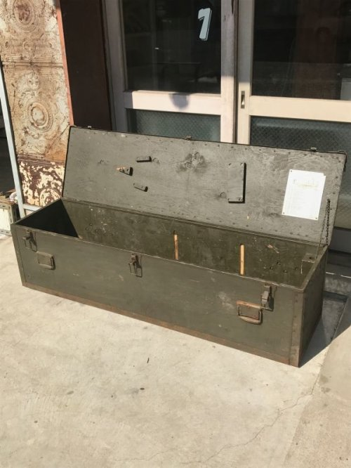 other photographs.1: 1960'S ストレージボックス ミリタリー U.S.ARMY アーミー 超大型 ツールボックス ウッドボックス アイアン ウッド アンティーク ビンテージ