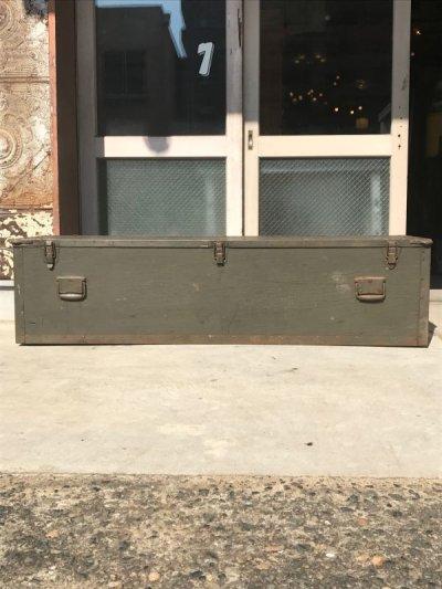 画像2: 1960'S ストレージボックス ミリタリー U.S.ARMY アーミー 超大型 ツールボックス ウッドボックス アイアン ウッド アンティーク ビンテージ