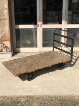 1940'S ファクトリーカート DOLLY TABLE コーヒーテーブル  インダストリアル ドーリー 台車 トロリー 什器 THOMAS TRUCK & CASTER CO. アイアン ウッド アンティーク ビンテージ