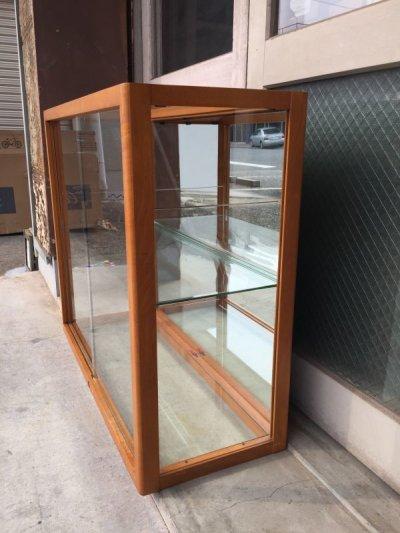 画像2: 1940'S 50'S WADDELL 木製枠 ガラス ショーケース 展示ケース DISPLAY CASE SHOWCASE ディスプレー ケース ミラー シャドーBOX 鏡 ウッド 鍵付 店舗什器 アンティーク ビンテージ