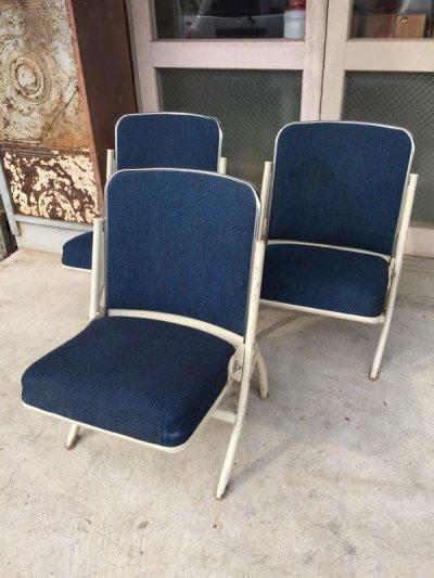 画像1: 1960'S HEYWOOD WAKEFIELD フォールディングチェア ヘイウッド・ウェイクフィールド ミッドセンチュリー モダン モダニズム スチール 椅子 折りたたみ椅子 EAMES ERA イームズ ネルソン パントン スペースエイジ ビンテージ アンティーク