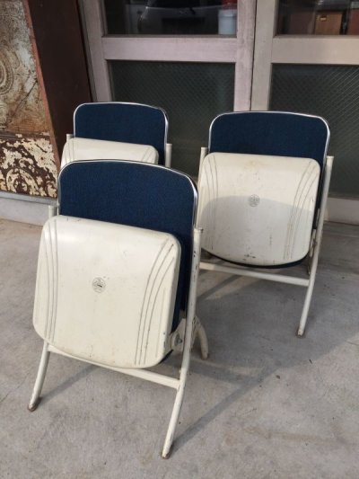 画像2: 1960'S HEYWOOD WAKEFIELD フォールディングチェア ヘイウッド・ウェイクフィールド ミッドセンチュリー モダン モダニズム スチール 椅子 折りたたみ椅子 EAMES ERA イームズ ネルソン パントン スペースエイジ ビンテージ アンティーク