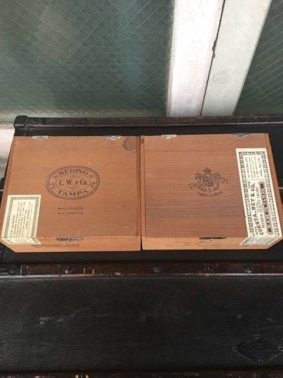 画像2: シガー木箱 BERING Cuesta-Rey 葉巻 タバコ シガーボックス ギター アクセサリーケース アドバタイジング ビンテージ アンティーク
