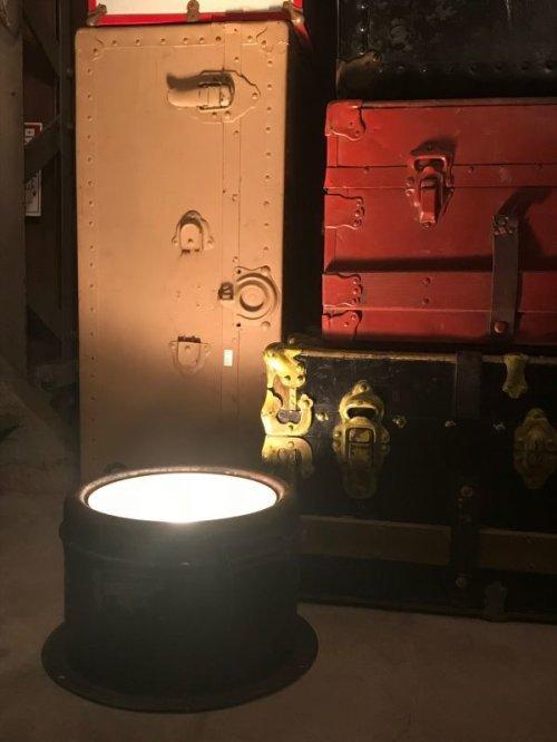 other photographs.1: 1920'S レア スポットライト サーチライト トレイン ヘッド ライト FRY GOLDEN GLOW 石炭 炭鉱 蒸気機関車 鉄道 ウランガラス ワセリンガラス ビンテージ