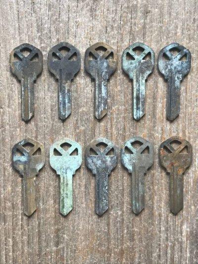 画像1: ブランクキー クイックセット kwikset カギ 合鍵 真鍮 ブラス アンティーク ビンテージ