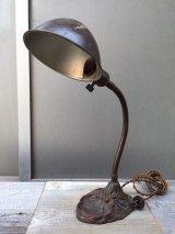インダストリアル デスクランプ タスクランプ 1灯 真鍮シェード アイアン アンティーク ビンテージ