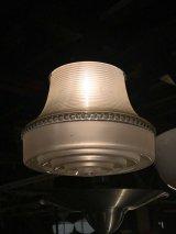 1920'S 1930'S シーリングライト フロストガラス&クリアガラスシェード 1灯 メタル アンティーク ビンテージ