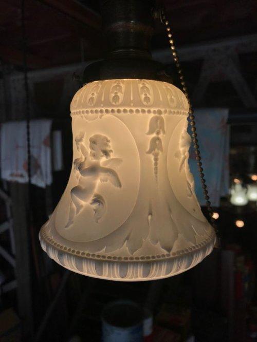 other photographs.1: シーリングライト ペンダントライト ビクトリアン 装飾 浮彫 カメオ 1灯 真鍮 アンティーク ビンテージ