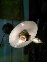 1890'S 1900'S 1910'S アーリーセンチュリー フラットシェード FLAT SHADE ミルクガラス ベンジャミン Benjamin ダブル ソケットクラスター ジャパンドメッキ ジャパンカラー 真鍮 銅メッキ アンティーク ビンテージ