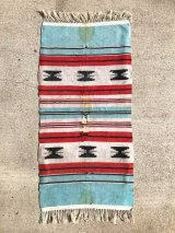1940'S 50'S indian woven placemats Native American Blankets & Rugs サウスウエスト ネイティブアメリカン インディアン ラグ ラグマット 小型 フリンジ フロアマット アンティーク ビンテージ
