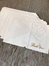 1940'S 50'S ウエディング ギフト メッセージ カード 6枚セット wedding 結婚式 マリッジ thank you エンボス アンティーク ビンテージ