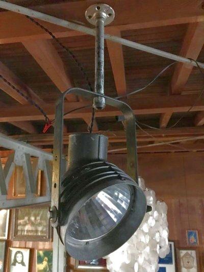 画像1: 1940'S 50'S インダストリアル シーリングスポットライト サーチライト spot light アイアン アルミ合金 ビンテージ