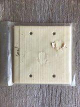 ブランクプレート スイッチプレート アメリカ USA ダブルサイズ 盲蓋 メクラ蓋 アイボリー ベークライト アンティーク ビンテージ