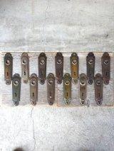 1920'S アールデコ ドアプレート マイアミ フロリダ バックプレート メタル 真鍮メッキ サビ アンティーク ビンテージ