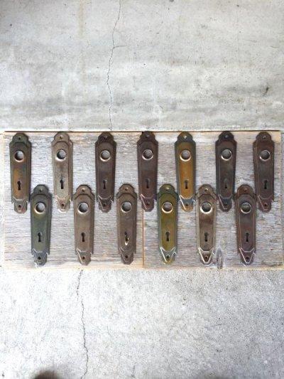 画像1: 1920'S アールデコ ドアプレート マイアミ フロリダ バックプレート メタル 真鍮メッキ サビ アンティーク ビンテージ