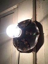 1930'S ウォールマウント&シーリングマウント フローラル ボタニカル リーフ フラッシュマウント 1灯 メタル ポーセリン シャビーシック アンティーク ビンテージ