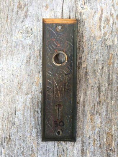 画像2: 1910'S ドアプレート eastlake arts&crafts ビクトリアン バックプレート 真鍮 装飾 アンティーク ビンテージ