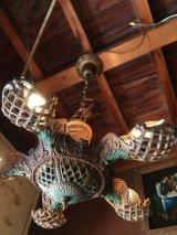1910'S 20'S ペンダントライト シーリングライト ビクトリアン シャンデリア 5灯 装飾 真鍮 アンティーク ビンテージ