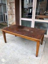 1940年前後 インダストリアル 大型 ワークベンチ デスク ウッド テーブル ダイニングテーブル シャビーシック vintage アンティーク ビンテージ