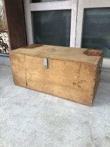 1950'S 60'S made in japan 逆輸入 ウッドボックス 当時物ステッカー付き 取手付き 蓋付き 木箱 コンテナ ストレージBOX その1 アンティーク ビンテージ