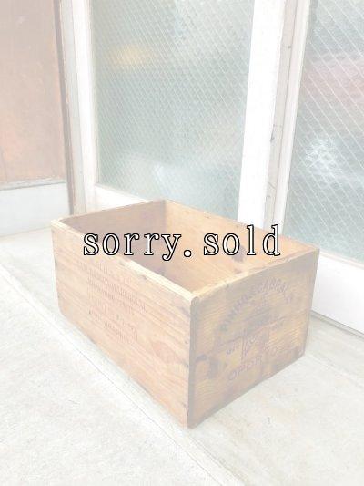 画像1: ウッドボックス PINHO&CABRAL OPORTO PORTUGUESE BRANDY ポルトガル ブランデー クレート PHILADELPHIA 木箱 ストレージボックス 店舗什器 アンティーク ビンテージ