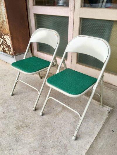画像2: サムソナイト SAMSONITE 折り畳み椅子 アイアン パイプ椅子 1950'S 60'S フォールディングチェアー ビンテージ アンティーク