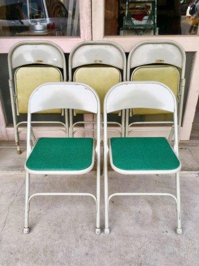 画像1: サムソナイト SAMSONITE 折り畳み椅子 アイアン パイプ椅子 1950'S 60'S フォールディングチェアー ビンテージ アンティーク