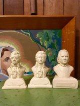 オブジェ 胸像 アッパーボディー ミニバスト リスト LISZT 1811-1886 モーツァルト MOZART 1756-1791 人形 ビンテージ アンティーク