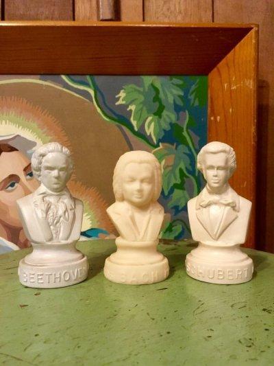 画像1: オブジェ 胸像 アッパーボディー ミニバスト 1770 BEETHOVEN 1827 ベートーベン 1685 BACH 1750 バッハ 1797 SCHUBERT 1828 シューベルト 人形 ビンテージ アンティーク