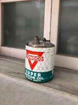 1950'S 60'S ガソリン缶 オイル缶 CONOCO SUPER MOTOR OIL コンチネンタルオイルカンパニー 大型 アドバタイジング アンティーク ビンテージ