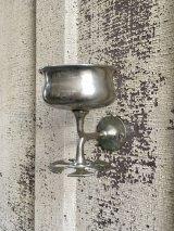 1910'S 20'S 30'S ARTDECO アールデコ アーリーセンチュリー ビクトリアン コンビ カップホルダー マグホルダー トゥースブラシホルダー 歯ブラシホルダー ブラス クロムメッキ アンティーク ビンテージ