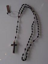 アンティーク ロザリオ ブラック イエスキリスト十字架クロス ヴィンテージ