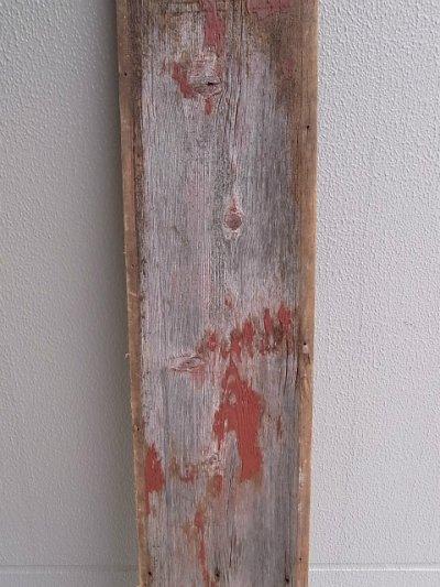 画像3: アンティーク 廃材 バーンウッド 30cm×30cm@ レッド 朱色 シャビー アメリカ old barn wood ビンテージ
