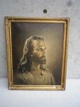 アンティーク ウォールオーナメント キリスト 装飾額縁 1941 KRIEBEL&BATES ビンテージ