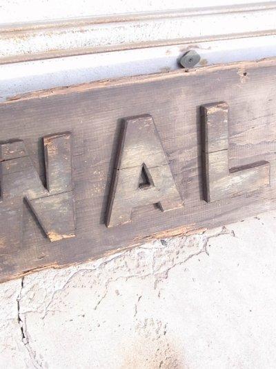 画像5: アンティーク folkart 超大型 サイン walkover WALK-OVER ホワイトバックス ダーティーバックス 木製看板 ウォークオーバー ビンテージ