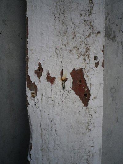 画像5: アンティーク バーンウッド 廃材 ホワイト 白 シャビー 30cm×30cm@ old barn wood ビンテージ