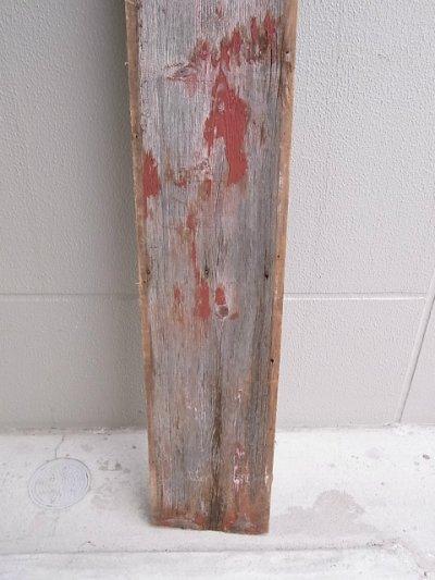 画像4: アンティーク 廃材 バーンウッド 30cm×30cm@ レッド 朱色 シャビー アメリカ old barn wood ビンテージ