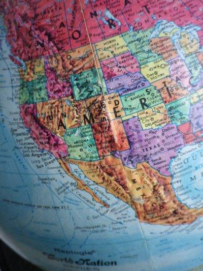 画像3: アンティーク 地球儀 グローブ Replogle製 World Nation SERIES GLOBE リプルーグル・グローブス ビンテージ